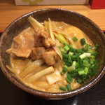41898433 - 鶏南蛮カレーうどん(味玉付き 920円)
