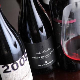 ソムリエ厳選シチリアワインのみ120種以上♪