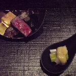 日本料理 時宜 - 前沢牛&カステラ玉子とうるいと粒貝のぬた和え