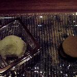 日本料理 時宜 - 大葉と抹茶どらやき