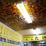 市場食堂 味処たけだ   - 天井は写真がぎっしり!