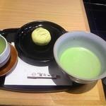 茶寮TSURU - 抹茶と季節の生和菓子¥1,026 セット全景♪w