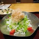 京都 つる家 花陽 - 水菜と大根のサラダ