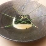 Kachou - 先附 黒胡麻豆腐