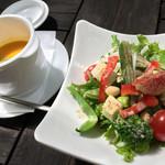 森の時間 - 本日のサラダ、スープセット