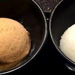 神楽坂 鉄板焼 中むら - 中むら特製アールグレイのアイスとレモンシャーベット!