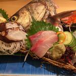 刺身居酒屋 大 - 料理写真:びっくり刺身盛り合わせ