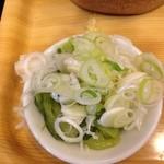 涼太郎 - 肉汁天付つけめん(薬味)