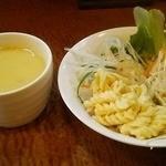 41916681 - セルフのサラダとスープ