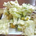 あずまや心菜 - キャベツの天ぷらでした。 2015.9