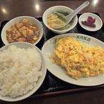 41922030 - 週替りランチ定食「エビと玉子炒め」800円