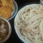 田舎打ち 麺蔵 - 肉汁+かき揚げ
