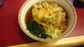 丹波屋 - かき揚げ蕎麦350円