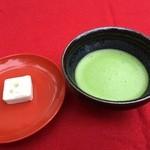 金閣寺不動釜茶所 - お抹茶とお菓子