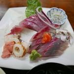 寿し 割烹 十両 - ひらまさ定食(1300円)