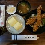 41925171 - えび天丼(2000円) +200円で出汁巻き