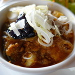 サラサ麩屋町Pausa - 秋ナスと豆腐と豚挽き肉のピリ辛麻婆炒め