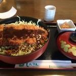 和風レストラン しんりん - わらじソースカツ丼大盛【料理】