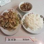 福楽園 - 肉ヤサイイタメライス¥800