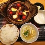 大戸屋 - 彩り野菜と手作り豆腐の土鍋麻婆定食❤