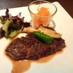 びすとろ堂島ぶどう酒店 - 和牛ランプステーキ