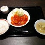41931284 - エビチリ定食(¥850-税別)