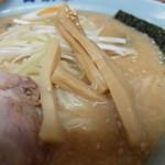 ラーメン青木亭 - ラーメン味噌味+背脂多め