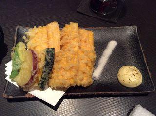五十松 - とうもろこしの天ぷら600円