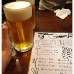 とりビアー 三軒茶屋本店 - 男前ビール580円(800ml)