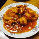 中国料理 食楽 - エビのチリソース¥750