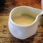 麺工房しろきや - スープ割り