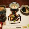 御母衣旅館 - 料理写真:夕食:山菜の胡麻酢和え、山菜炊き合わせ、松前漬け夏目甘煮等々
