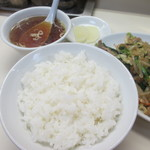 虎林 - 後で追加したライスとスープ これで850円