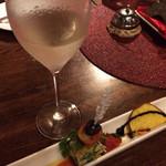 Osteria 吉田PASTA BAR - 前菜的な。キッシュなどのピンチョス