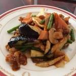 zanikugyouzashisenshuubou - 豚肉とナスの黒酢辛味炒めアップ