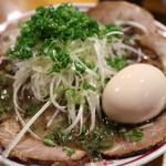 水田商店 - 黒ネギちゃーしゅーめん(味玉)