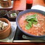 ゆるり - 坦々麺とシュウマイ+御飯のセット