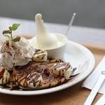 gioia cafe - チョコバナナのパンケーキ2