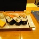 なでしこ寿司 - ランチ握りセット・拡大右半分(2015.09.16)