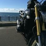 41960188 - バイクと海
