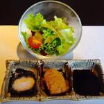 鉄板 松阪屋 - サラダとタレ