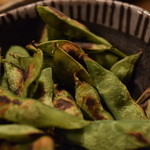 居酒屋 遊膳 - 黒豆の焼き枝豆
