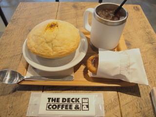 ザ デック コーヒー&パイ - ハンバーグのパイとアイスティー