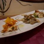 Hostaria Casa Bella - 前菜 (車海老とオレンジ)