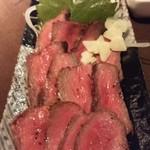 喫茶&レストバー トヤマ - 牛肉タタキ?!