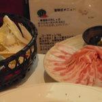 豚菜キッチン 絆 - 美湯豚のしゃぶしゃぶ