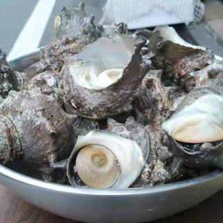 迫力満点30×70cm の大網で牡蠣をはじめ新鮮な魚介類を焼いてお召しガリください!