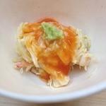 41970060 - 毛ガニの蟹内子和え。大変お上品な味わい。蟹の香りがとても良いです。