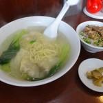 上海 - ワンタン麺+ミニ肉丼