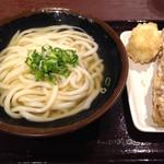 香川一福 - 温 かけ 中(500円)&ちくわ天(200円)&半熟卵天(100円)